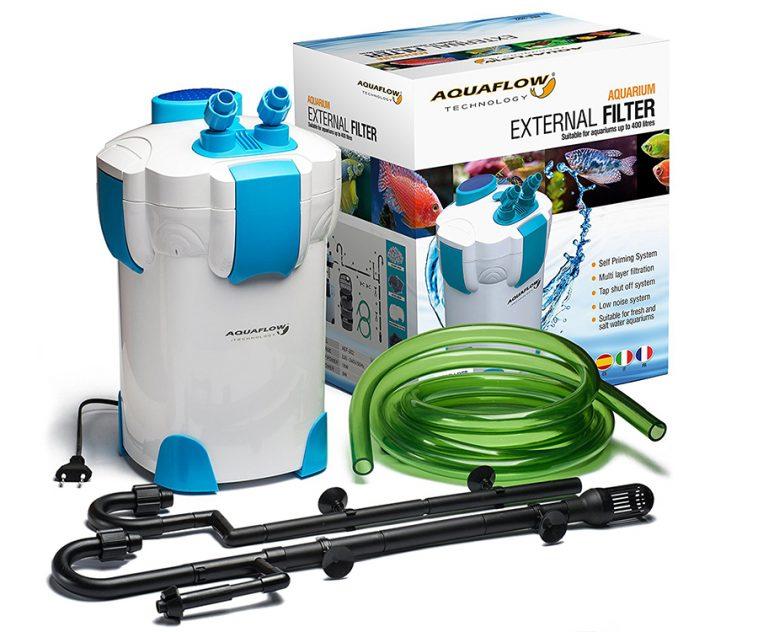 Aquaflow Technology® Super AEF-302 | El mejor filtro exterior para acuarios y tanques de hasta 400 litros